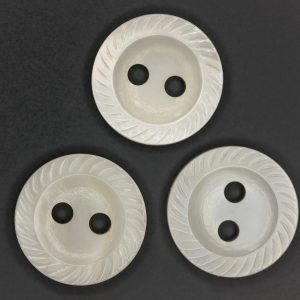 MOP475 rope edge button in white