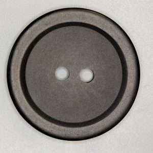 HW662 two hole dull black button with raised rim