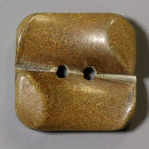Brown two hole square horn button