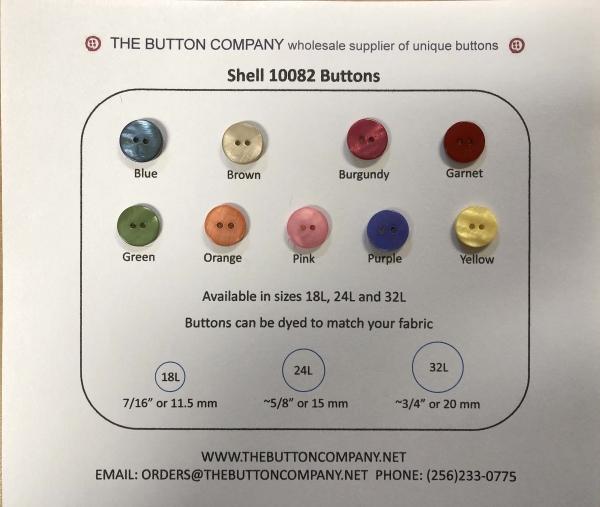 10082 Shell button sample card